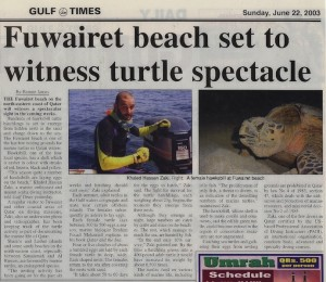 turtle nesting newspaper english